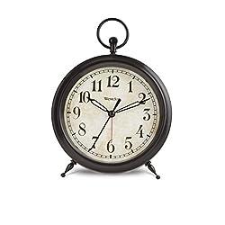 Westclox QA Quartz Battery Operated Alarm Clock with Backlight - Black