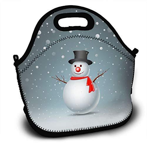 (LIUYAN Custom Bento Lunch Box Merry Christmas Snowman Reusable Snack Bags for School Cooler)