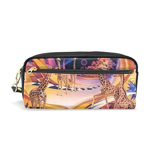 - Pencil Pouch Art Earth Giraffe Pen Case Zipit Cute School Makeup Bag Organizer Holder