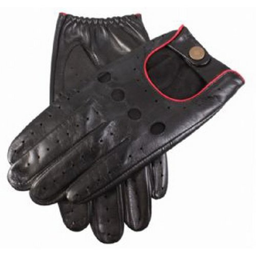 Dents Mens Delta Leather Driving Gloves - Red - Large