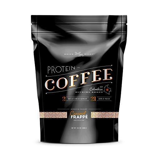 Complete Nutrition Maine Roast Protein Coffee, Caramel Frappe, Whey Protein, Espresso, Keto Friendly, 16.8 Oz Pouch