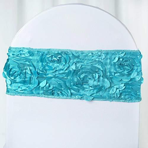 Mikash Satin Rosettes Stretchable Spandex Banquet Chair Sashes Wedding Decorations Sale | Model WDDNGDCRTN - 4288 | 20 pcs