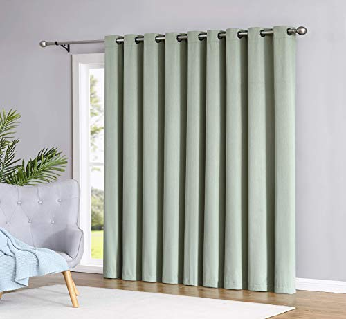 Compare Price Door Panel Curtain Green On Statementsltd Com