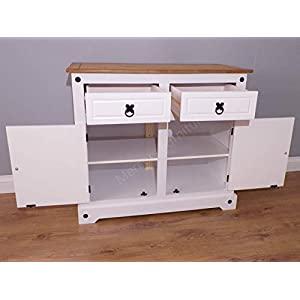 Mercers Furniture Corona White 2 Door Sideboard