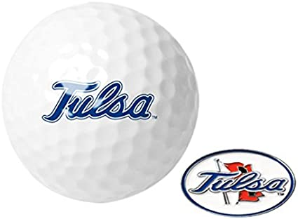 3 Ball Gift Pack with Hat Trick Divot Tool NCAA Tulsa Golden Hurricane