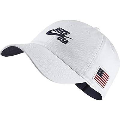 NIKE Adult/Unisex White Team USA 86 Americana Hat
