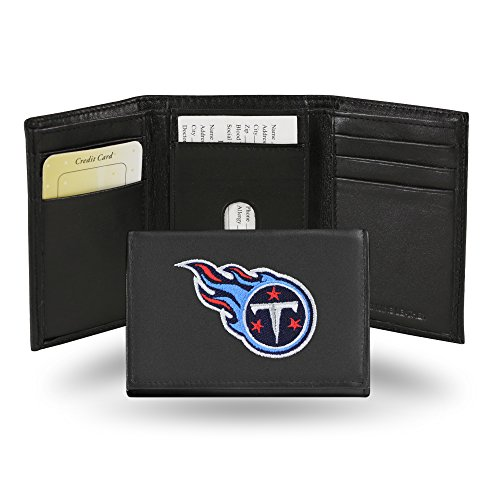 Rico Industries NFL Tennessee Titans Embroidered Leather Trifold Wallet