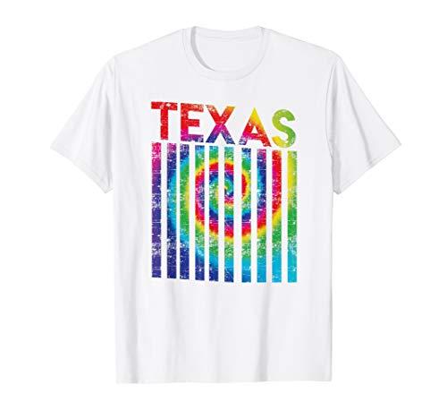 Retro Vintage Texas Colorful Shirt   Tie Dye Texan Roots]()