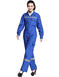 XinAndy Women's Blue Safety Work Coverall