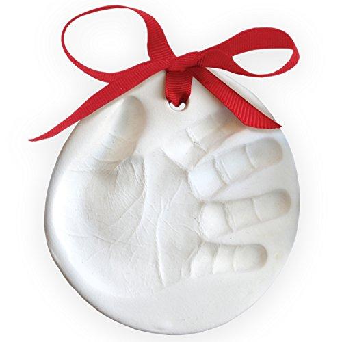 shmallow Clay Baby Handprint or Footprint First Christmas Ornament Kit (Christmas Tree Ornament Kits)