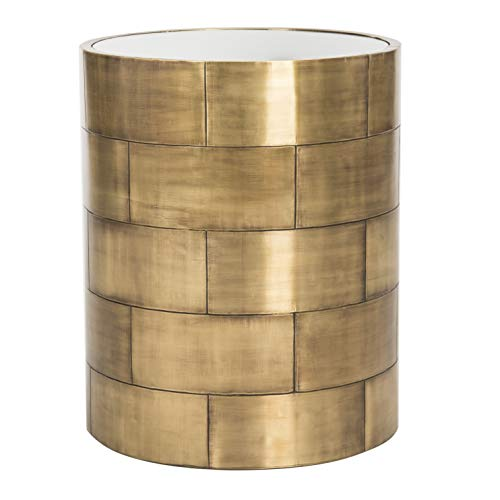Safavieh SFV5525A Home Collection Florencia Round Side Table, Brass