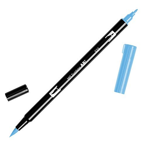 Tombow Dual Brush Pen Art Marker, 533 - Peacock Blue, 1-Pack Color: Peacock Blue, Model: DBP-56561, Office Shop (533 Peacock)