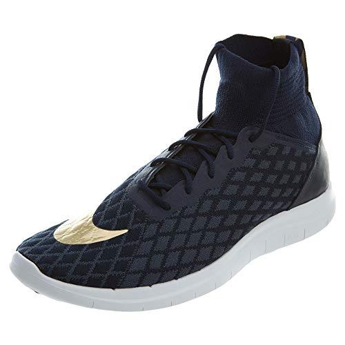 (NIKE Free Hypervenom 3 FC FK Mens Soccer-Shoes 898029-400_10.5 - College Navy/Metallic Gold-Blue Fox)