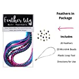 Feather Hair Extensions, 100% Real Rooster