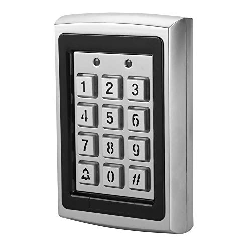 (RFID 125KHz Standalone Access Control with Blue Backlit Keypad Support 1000 Users (Silver))