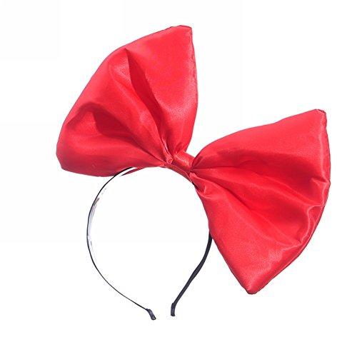 Big Red Hair Costume (Mwfus Sweet Women Girls Big Bow Headband Hair Accessory Fancy Dress Hairband Hair Hoop)