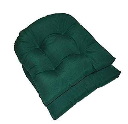 amazon com set of 2 universal tufted u shape cushions for wicker
