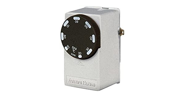 FANTINI COSMI c01 to Contact Thermostat for Tubazioni, White ...