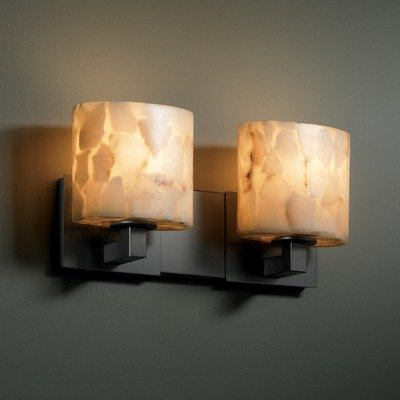 Nckl Modular Alabaster Rocks (Justice Design Group ALR-8922-10-NCKL Alabaster Rocks! Collection Modular 2-Light Bath Bar)