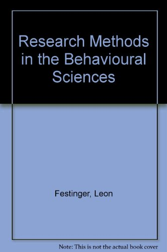 Research Methods in the Behavioural Sciences