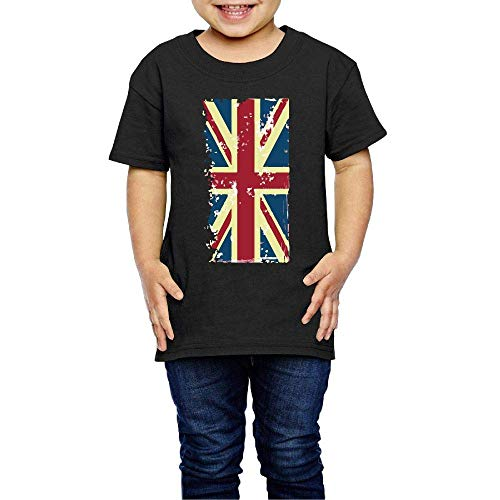 British Flag Costume Infant Kids O-Neck Short Sleeve Shirt Tee Jersey for 2-6 Toddlers -