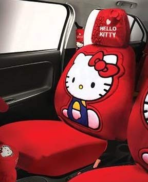 Amazon Com Hello Kitty Car Seat Cover With Headrest Cover Automotive