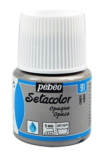 Pebeo Setacolor Opaque Fabric Paint, 45ml, Grey