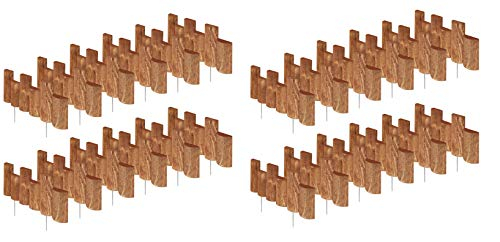 Greenes Fence 18 in. Half Log Edging (24 Pack) (Logs For Garden)