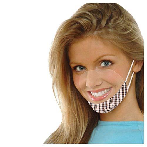Allegorly Face Covering Washable Transparente Mundschutz Wiederverwendbare Komfort Gesichtsschutz Gummiband Visuelle Atmungsaktive Halstuch Multifunktionstuch