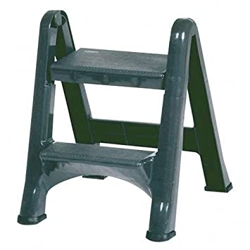 Rubbermaid Commercial Products FG420903 Two-Step Folding Stepstool (300-Pound Load Capacity  sc 1 st  Amazon.com : commercial step stool - islam-shia.org