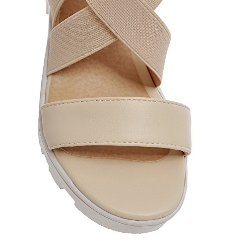 Balamasa Damer Tomma Klassiska Kattunge-häl Mjuk Material Sandaler Beige