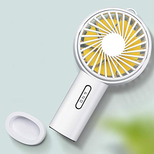 FuriGer Handheld Personal Fan, Portable Mini Hand Fan with USB Rechargeable 3 Speed Adjustable Air Cooler Rotation Cooling Fan, Desk Fan Electric for Outdoor Sport Household Traveling Camping-White by FuriGer (Image #5)