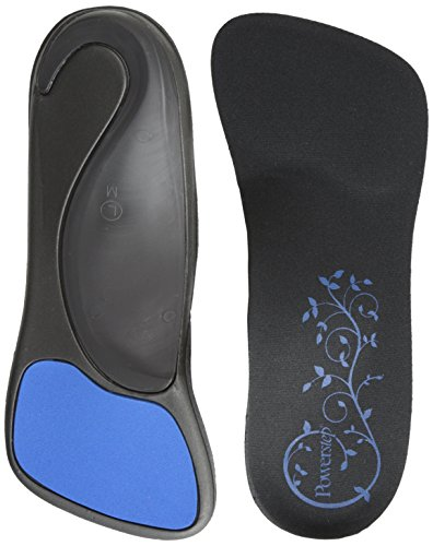 Thin Fit Insole - SlenderFit Fashion Orthotic-W, Black/Black, Women's 6.5 - 7.5