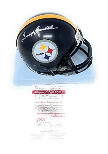 Terry Bradshaw Pittsburgh Steelers Signed Autograph Mini Helmet Bradshaw GTSM Player Hologram JSA Witnessed Certified