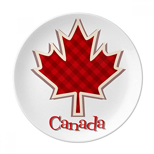 Canada Day 4th Of July Square Maple Leaf Dessert Plate Decorative Porcelain 8 inch Dinner Home
