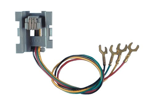 - Allen Tel AT523A4 4 Wire, 6 Position Line Jack for Base of Wall Telephone Modular Outlet Jack