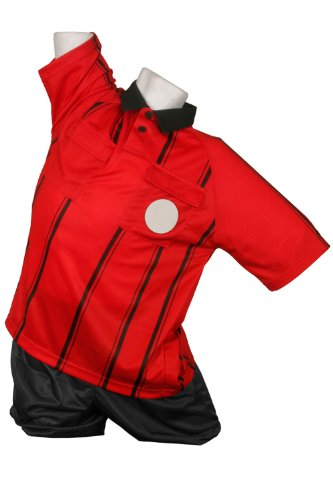 Kwik Goal Premier Referee Jersey, Red , Youth Large