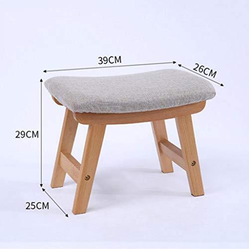 (Yby modern Wooden Curved Stool Japanese Household Comfort Sponge Stool Sofa Stool Living Room Stool, Multifunctional Fabric Children's Stool Creative Bedroom for Shoes Foyer (39 x 29 cm))