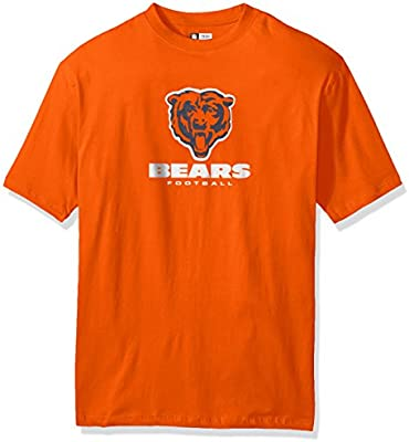 sneakers for cheap 3df95 0889a NFL Chicago Bears Men S/S TEAM COLOR TEE, ORANGE, 5X: Amazon.com