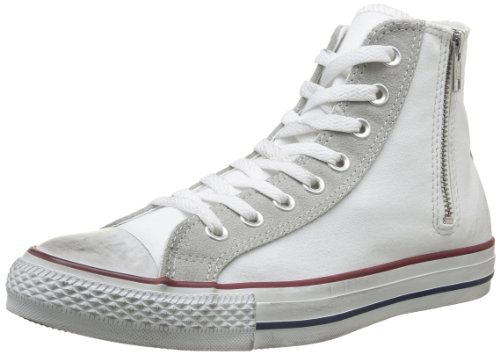 Canvas Distressed light Botines Side Para Hi white Mujer Zip Grey Op All Star Converse XFHAxwn