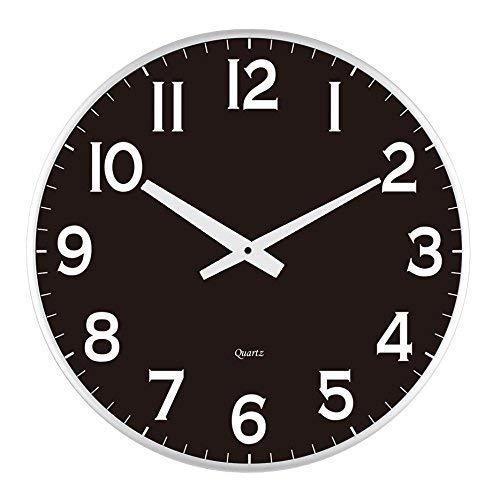 Lulu Decor, 18 Slim Large Black Wall Clock, Modern Sleek Design only 0.75 inches Thick, Silent Movement (Slim Black)