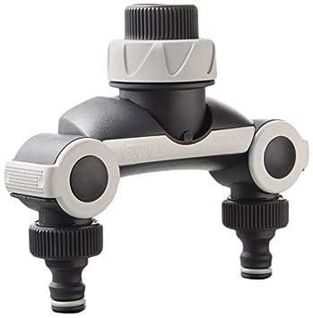 GARDENA 2-Wege-Verteiler Anschluss 2 Geräte Wasserhahn Bewässerungscomputer uhr
