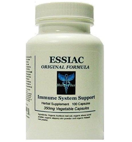 Essiac Herbal Capsules Organic Certified Ingredients No Fillers 100 Count ()