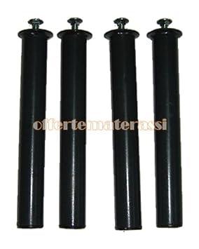 Set Gambe in metallo di ricambio per rete letto (H.35 CM) EFFETTO CASA