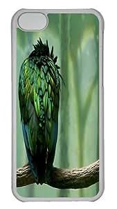iPhone 5C Case, iPhone 5C Cases -Green Owl PC Hard Plastic Case for iPhone 5C Whtie