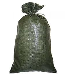 Green Sandbag Sandbags Will Hold 50 Pounds of Sand Polypropylene Olive Drab (50)