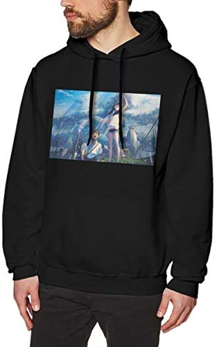 QINQIN Dave East Fashion Mens Hat and Pocketless Sweater Black