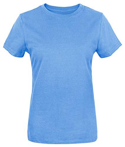(Funny World Women's Cotton Solid Short Sleeve T-Shirts (XXL, Carolina)