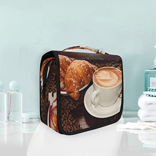 Cosmetic Makeup Toiletry Bag Travel Food Coffee Drink Cup Breakfast Dessert Hanging -