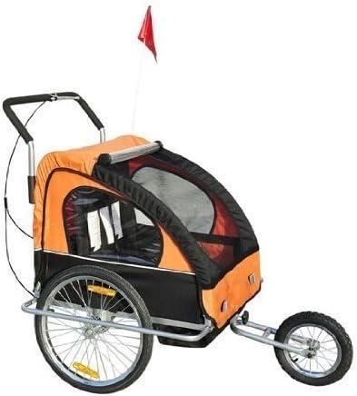 Remolque para Niños DOS PLAZAS con Amortiguadores Carro para ...